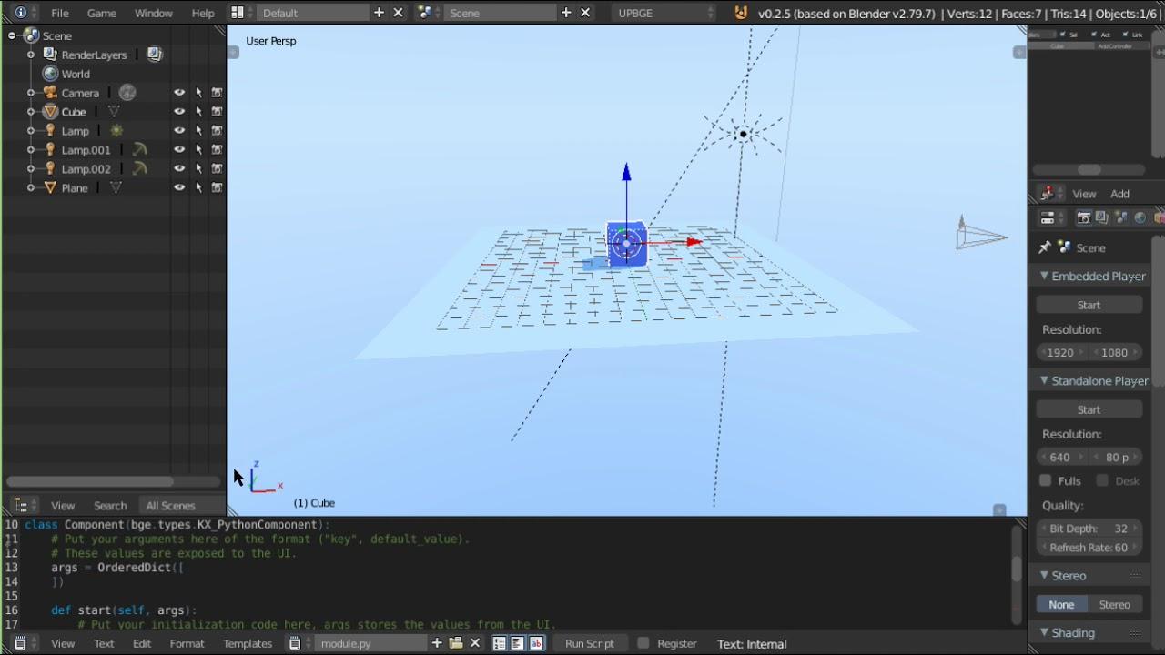 Upbge player jump movements BGE Blender Game Engine Tutorial