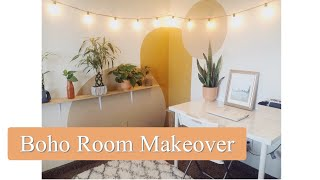 EXTREME PINTEREST BEDROOM MAKEOVER | BOHO BEDROOM MAKEOVER | AESTHETIC | BOHEMIAN INSPIRED | TOUR