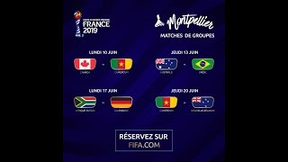 Les matchs de France 2019 à Montpellier