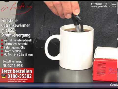 infactory Edelstahl-Getränkewärmer mit USB-Stromversorgung