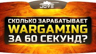 Сколько зарабатывает Wargaming за 60 секунд?