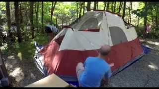 Coleman 8 Person Red Canyon Tent - Time lapse of First Set-up