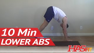 10 Min Lower Ab Workout to Lose Lower Belly Fat - HASfit Lower Abs Workout to Get Rid of Belly Pooch by HASfit