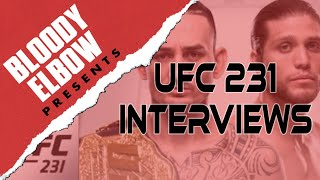 Bloody Elbow Presents: Audio Compilation of UFC 231 Fighter Interviews with Nick Baldwin