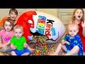 Five Kids Chocolate Surprise Eggs more