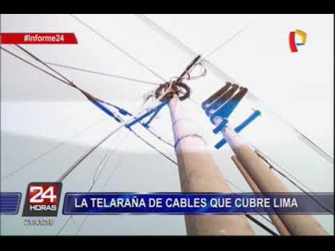 Plantean alternativas para cables aéreos en Lima