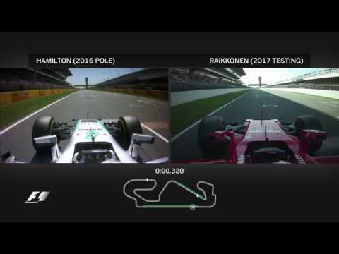 Сравнение машин формулы-1 на боевом круге в конфигурациях 2016 и 2017 г видео