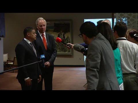 Entrevista ku Minister Eugene Rhuggenaath promé ku e la papia den Konseho di Seguridat di Nashonnan Uní (11 yüni 2018)