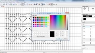 Crochet charts software • Рисую схему для вязания крючком ажурного узора