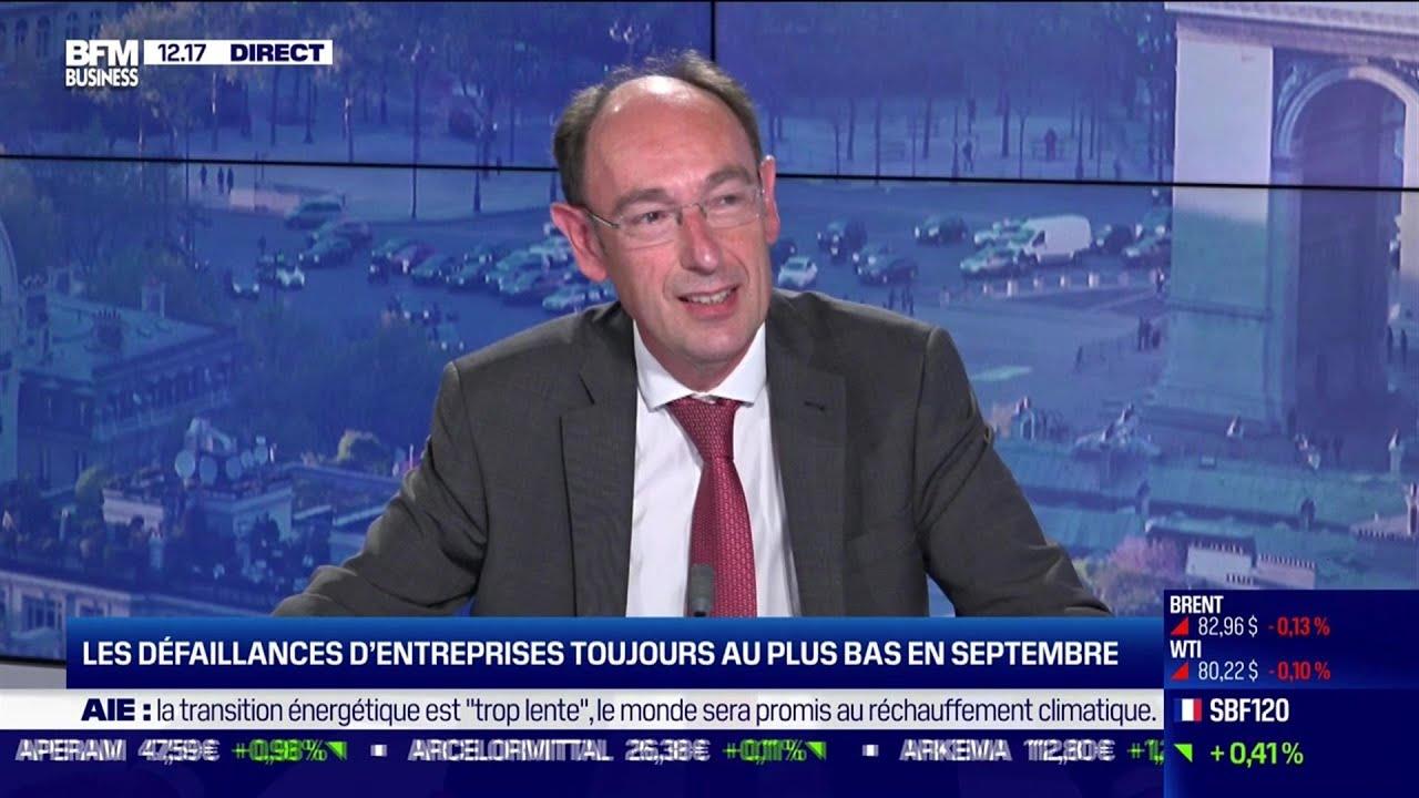 Claude Piot (Banque de France) :Les défaillances d'entreprises toujours au plus bas en septembre