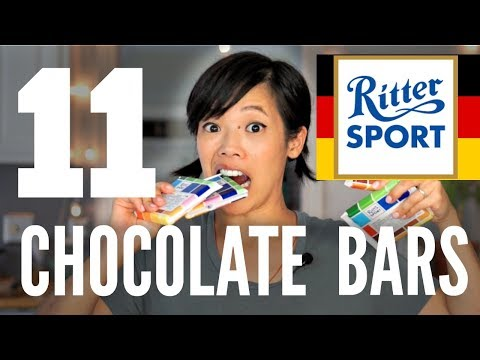 11 Ritter Sport CHOCOLATE BARS | Emmy Eats GERMANY Taste Test