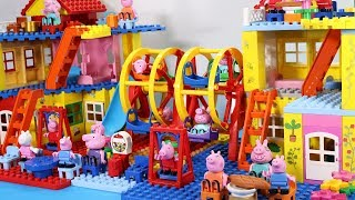 Peppa Pig Lego House With Water Slide Toys - Lego House Creations Toys For Kids #9