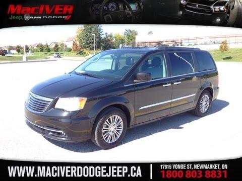 2014 Black Chrysler Town & Country Touring Newmarket Ontario | MacIver Dodge Jeep