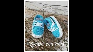zapatos nike a crochet para bebe Kênh video giải trí dành