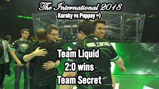 Team Liquid wins 2:0 Team Secret in Play-off LB R4 🏆 International 2018 Winning moment @CyberWins