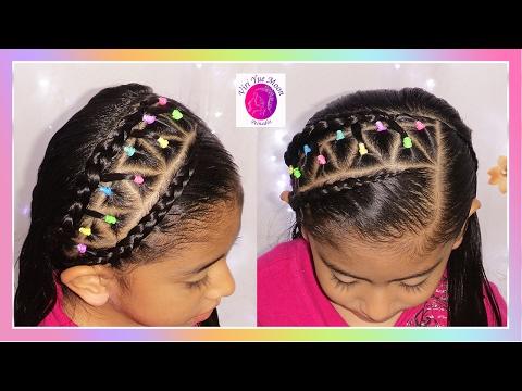 Peinado Sencillo Para Pelo Corto Con Ligas O Bandas Elasticas En