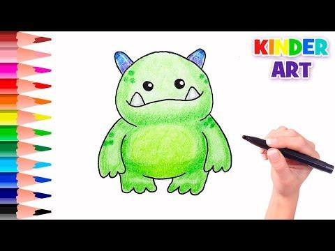 Как нарисовать монстра ребенку | How to draw a monster for kids