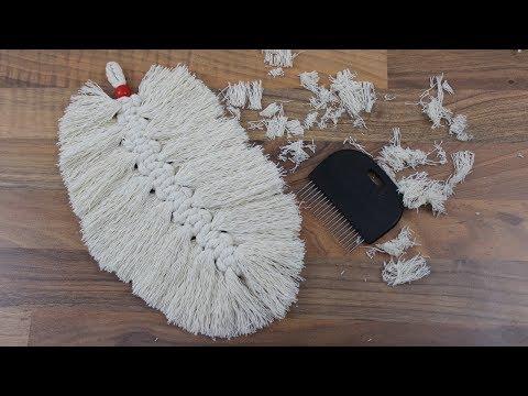 Macramee Feder aus Baumwollkordel knüpfen❁ Deko Ideen mit Flora-Shop