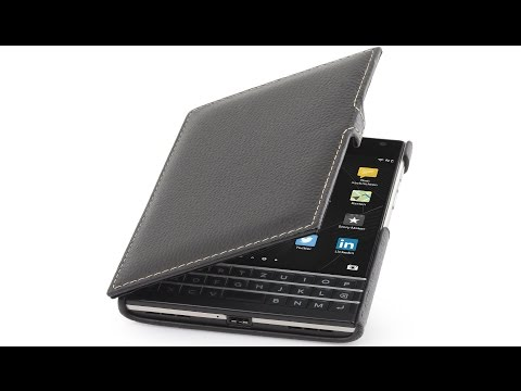 Handyhülle für BlackBerry Passport aus echtem Leder von StilGut mit Clip
