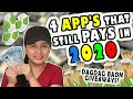 4 LEGIT APPS THAT STILL PAYS IN 2020 & DAGDAG BAON GIVEAWAYS! (watch and earn)