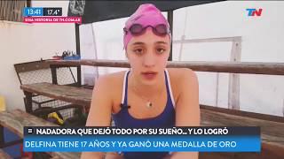 La nadadora que dejó todo por su sueño, y lo logró