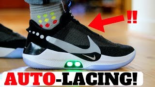 NIKE ADAPT BB Review! SELF LACING SNEAKERS: First Thoughts On Feet