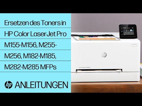 So ersetzen Sie den Toner in Druckern der Serie HP Color LaserJet Pro M155-M156, M255-M256, M182-M185 und M282-M285