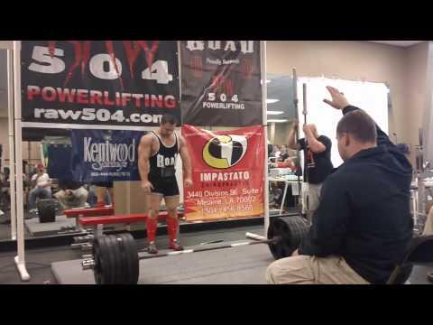 Garrett Gunz Griffin Raw 600lb deadlift at 196bw sponsored by Team Force Factor and Team BOAD