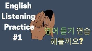 #1 이영시 영어 듣기 연습 - 딕테이션 + 쉐도잉 떠먹여 주는 연습영상 (#1 English Listening Practice!)