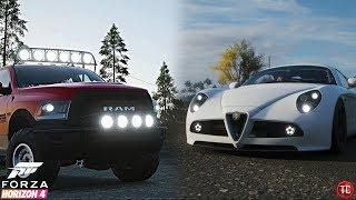 Forza Horizon 4: Let's Play | Alfa Romeo 8C FORZA EDITION + Dodge Ram Power Wagon!