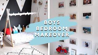 BOYS BEDROOM MAKEOVER | MINI MAKEOVER BOYS ROOM TOUR