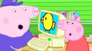 Peppa Pig Official Channel   Peppa Pig Teaches Grandpa Pig How to Use Computers