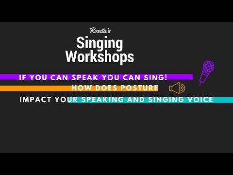 How does posture impact your voice? Singers and those that have to speak a lot in their jobs, please watch this video!
