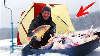 ВОТ ЭТО БОРЬБА ! Одна лунка - 9 ЛЕЩЕЙ ! Рыбалка на леща зимой СИБИРИЯ