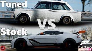 Forza Horizon 4: Stock vs Tuned! NEW Hillman Imp vs Aston Martin GT12! (Customization, Widebody)