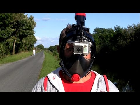 I CAN SPEAK UNDERWATER! Testing new cool Full Face EasyBreath snorkeling mask with Gopro + review.