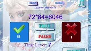 Disney Princess - Elsa Frozen Math Quiz