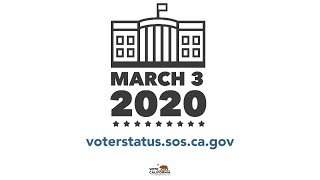 2020 Election - How to Vote for President in the CA Primary