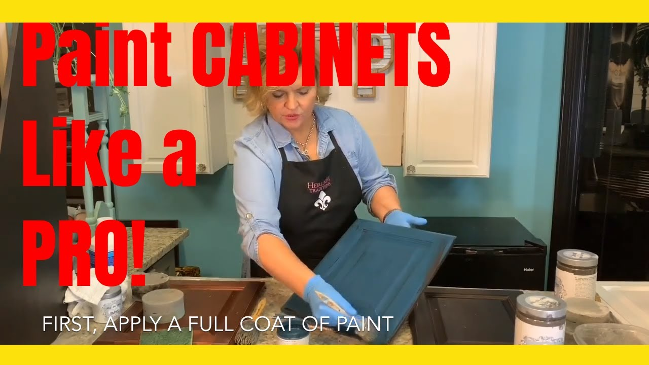 How to paint CABINETS like a PRO using ALL-IN-ONE Paint! No Sanding, No Waxing or Topcoats Needed
