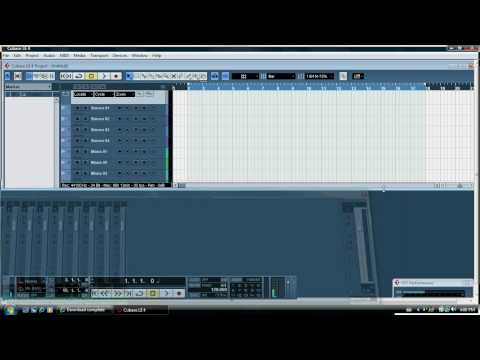 Cubase LE4   lesson 1. How to record audio tracks on the PC and export a mixed-down wave file le 4