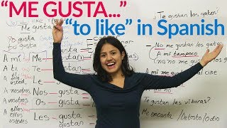 """Me gusta - """"to like"""" in Spanish"""
