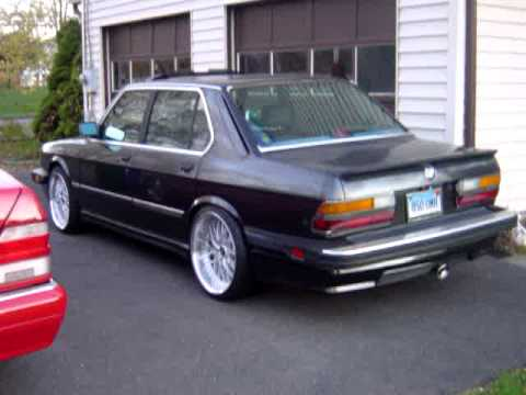 """1987 BMW 535is E28 w/ BBS Spoilers & 19"""" WORK Rezax RSII Staggered"""