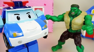Video Hulk Vs Robocar Poli Car Toys Escape From The Cage