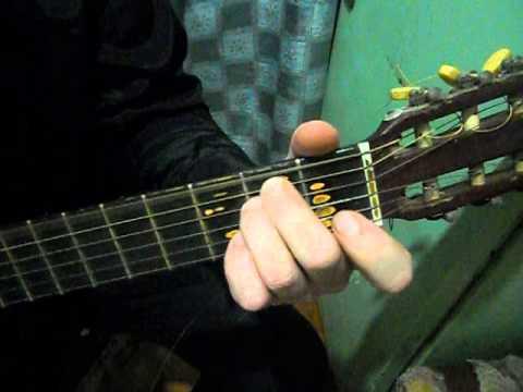 Показ гитарного боя и аккордов Утренней Гимнастики