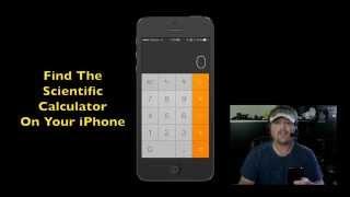 How To Find The Hidden iPhone Scientific Calculator