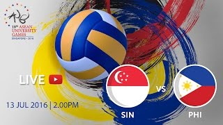Volleyball Womens Singapore V Philippines  18th ASEAN University Games Singapore 2016