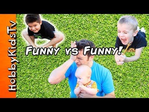 Funny Vs Funny CHALLENGE with HobbyKids and HobbyGuy