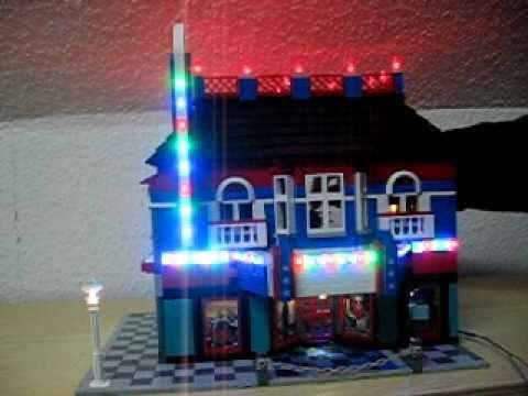 Kino Cinema Lego mit LED Beleuchtung + Lauflicht