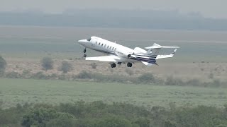 preview picture of video 'Learjet 45 - LV-CAR - Take off - Aeropuerto de Resistencia'
