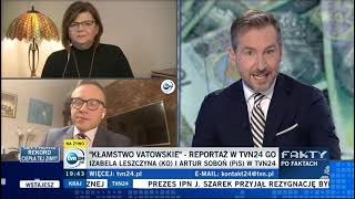 Soboń: TVN nie traktuje widzów poważnie, ja przed programem sprawdziłem w Google